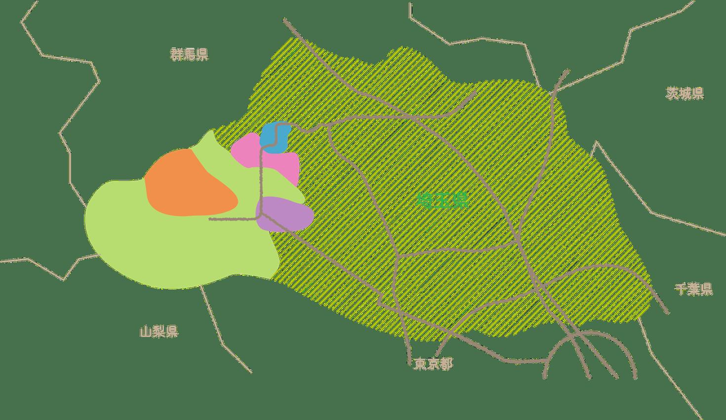 埼玉県秩父地域の地図